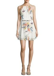 Makana Silk Floral Mini Dress