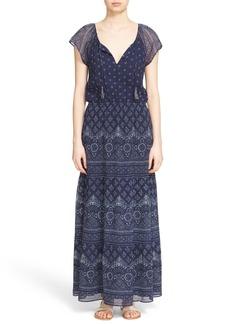 Joie 'Manalia' Print Silk Blouson Maxi Dress
