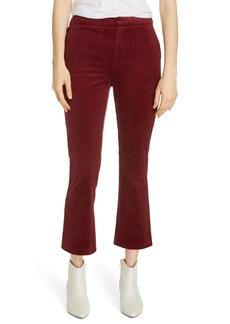 Joie Marcena Velvet Crop Flared Pants