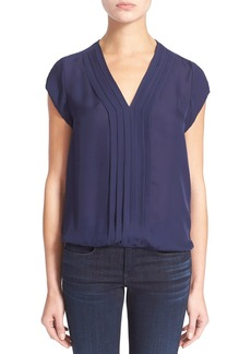 Joie 'Marcher' Pleated Silk Top
