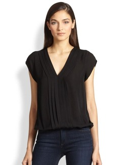 Joie Marcher Pintuck-Pleated Blouse