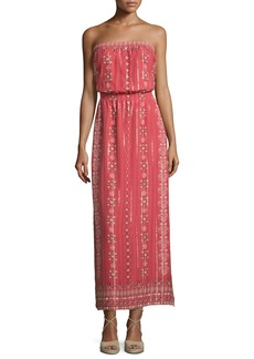 Joie Mariele Strapless Printed Maxi Dress  Terracotta Bloom