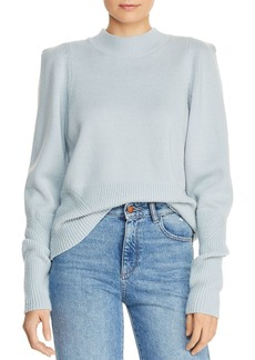 Joie Marquetta Strong-Shoulder Wool Sweater