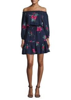 Joie Marx Off-the-Shoulder Silk Dress