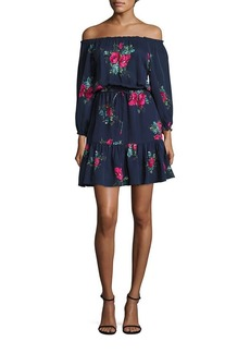 Joie Marx Off-the-Shoulder Silk Dress
