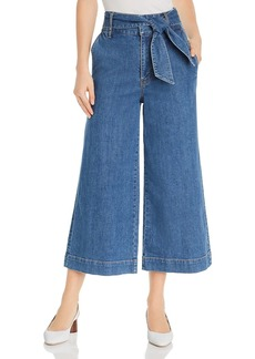 Joie Marylu High-Rise Culotte Jeans in Denim Sky