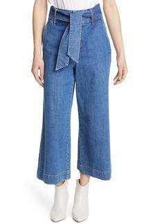 Joie Marylu Wide Leg Crop Jeans (Denim Sky)
