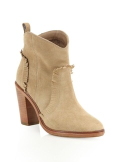 Joie Mathilde Suede Block Heel Booties