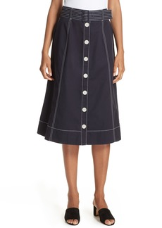 Joie Mayaly Belted Cotton Skirt