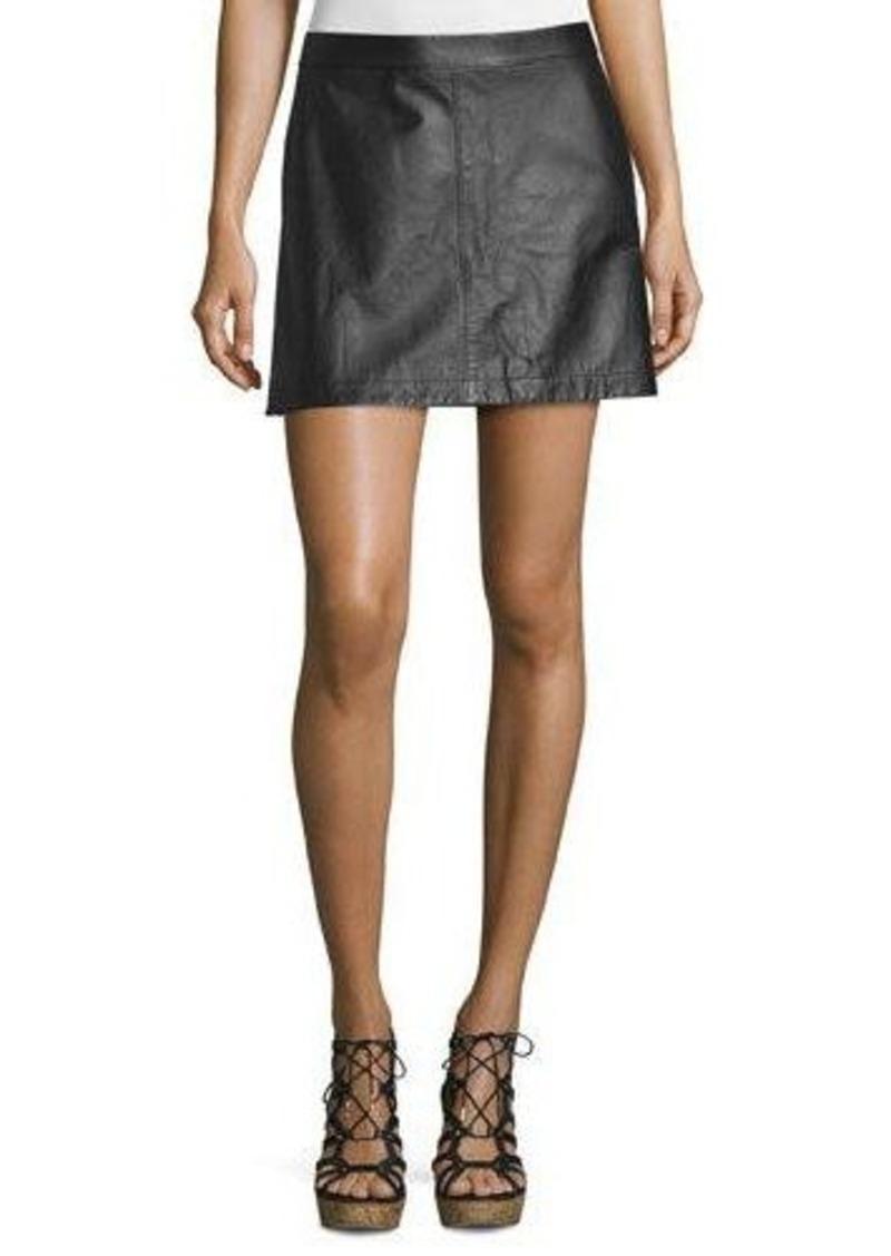 Joie Mayfair Leather Miniskirt