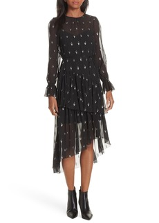 Joie Maylene Asymmetrical Silk Blend Dress