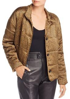 Joie Maysa Leopard Print Puffer Jacket