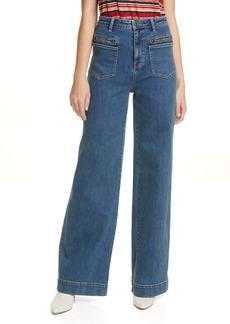 Joie McKena Wide Leg Jeans (Mariner)