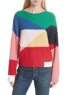 Joie Megu Colorblock Wool & Cashmere Sweater