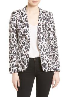 Joie Mehira Leopard Print Linen Jacket