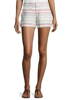 Joie Merci Embroidered Linen Shorts