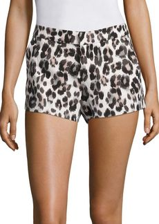 Joie Merci Leopard Print Linen Shorts