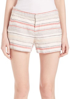 Joie Merci Striped Linen Shorts