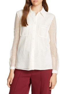 Joie Merredin Circle Lace Blouse