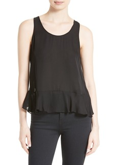 Joie Micha Split Back Silk Top