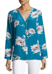 Joie Michi Floral-Print Silk Blouse