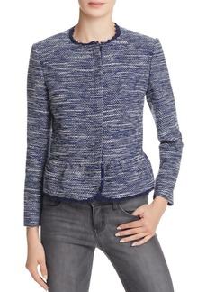 Joie Milligan Tweed Peplum Jacket