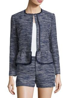 Joie Milligan Tweed Zip-Front Jacket