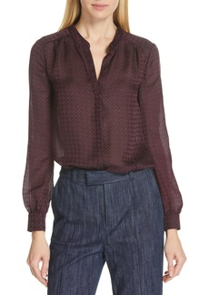 Joie Mintee Houndstooth Check Blouse