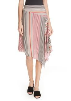 Joie Moni Asymmetrical Stripe Skirt