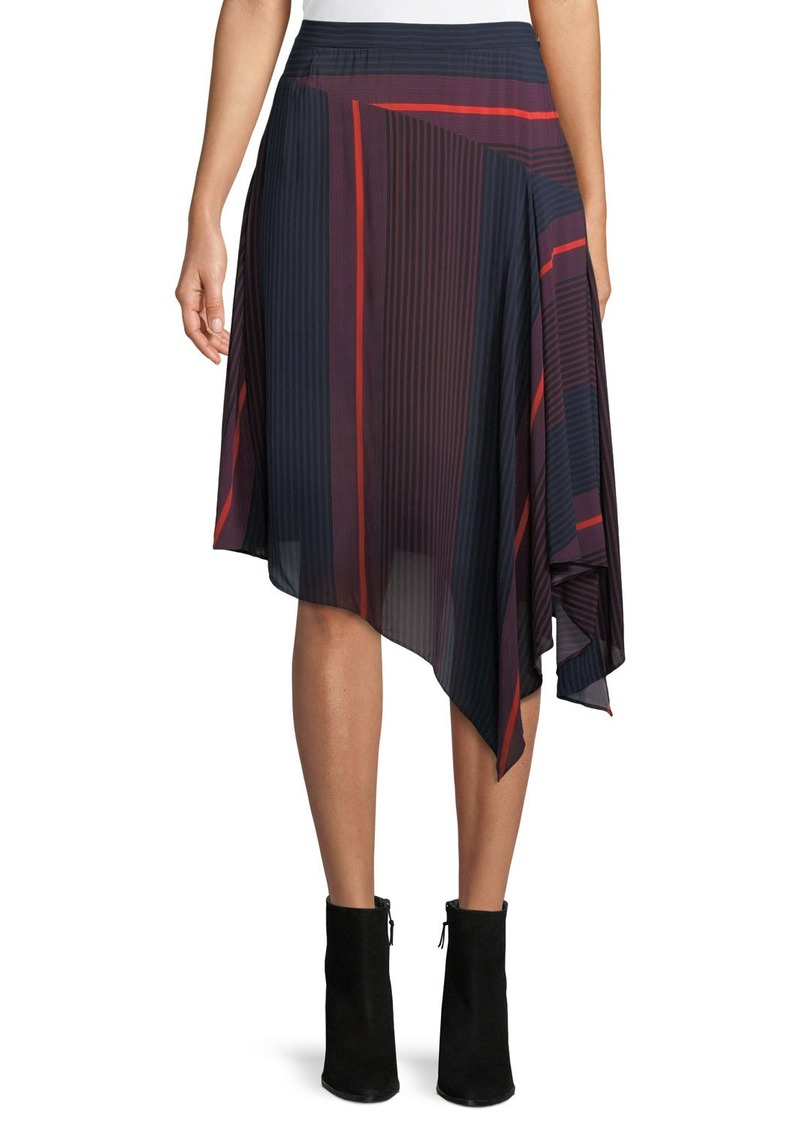 Joie Moni Striped Asymmetric Midi Skirt