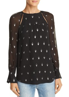Joie Mosi Metallic Print Top