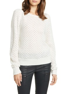 Joie Moxya Pointelle Puff Sleeve Sweater