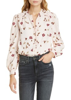 Joie Myella Floral Long Sleeve Crepe Shirt