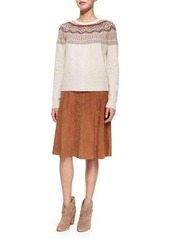 Joie Mylon Suede Skirt