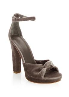 Joie Nabila Velvet Platform Sandals
