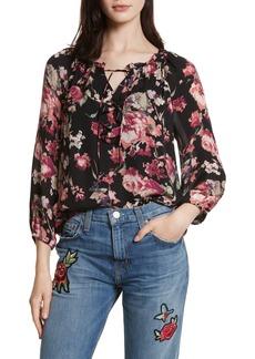 Joie Nadege Floral Print Silk Top
