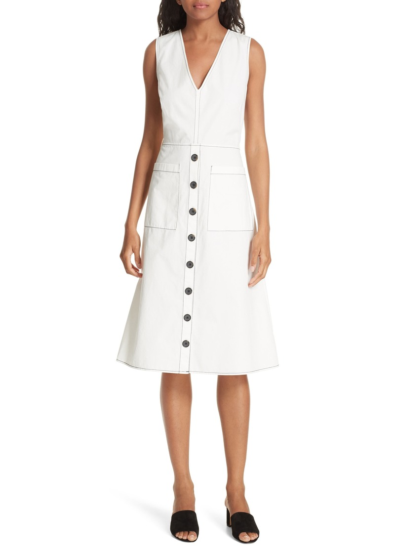 Joie Nadinaly Belted Cotton Dress