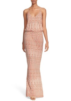 Joie 'Nahia' Ikat Print Blouson Maxi Dress
