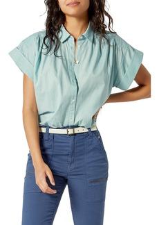 Joie Naro Short Sleeve Cotton Button-Up Blouse