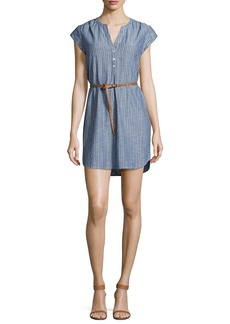 Joie Neha Striped Belted Shirtdress