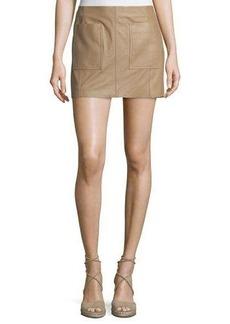 Joie Nephrite Soft Leather Skirt