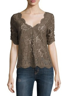 Joie Nevina Floral Lace Deep-V Top