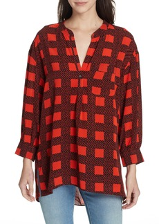 Joie Nias Herringbone Check Top