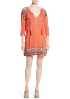 Joie Nieva Embroidered Cotton Shift Dress