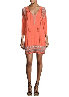 Joie Nieva Embroidered Tassel Dress