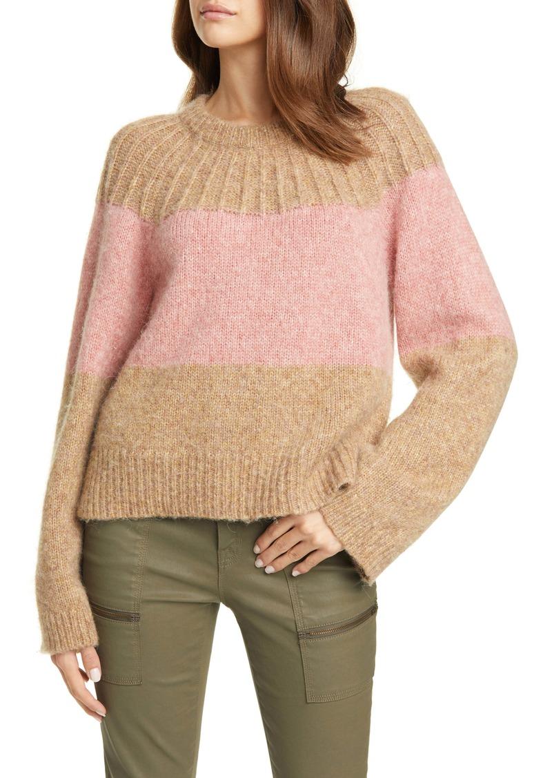 Joie Nirmala Colorblock Wool & Alpaca Crewneck Sweater