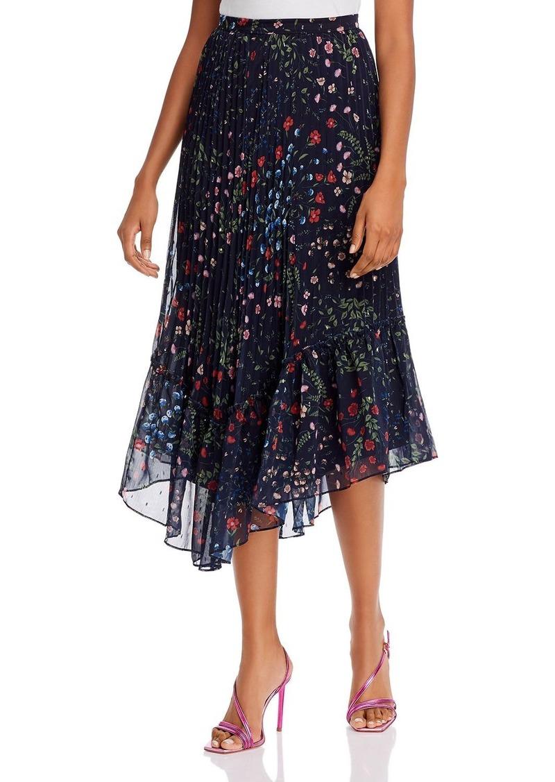 Joie Noora Metallic Floral Skirt