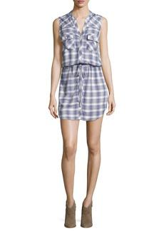 Joie Noraha Plaid Sleeveless Shirtdress
