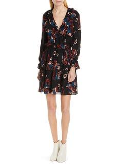 Joie Nour Ruffle Neck Silk Dress