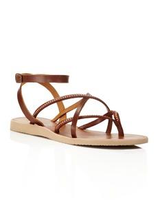 Joie Oda Studded Ankle Strap Flat Sandals
